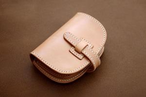 【受注製作】本革サドルレザーのハーフ財布【フラップ】