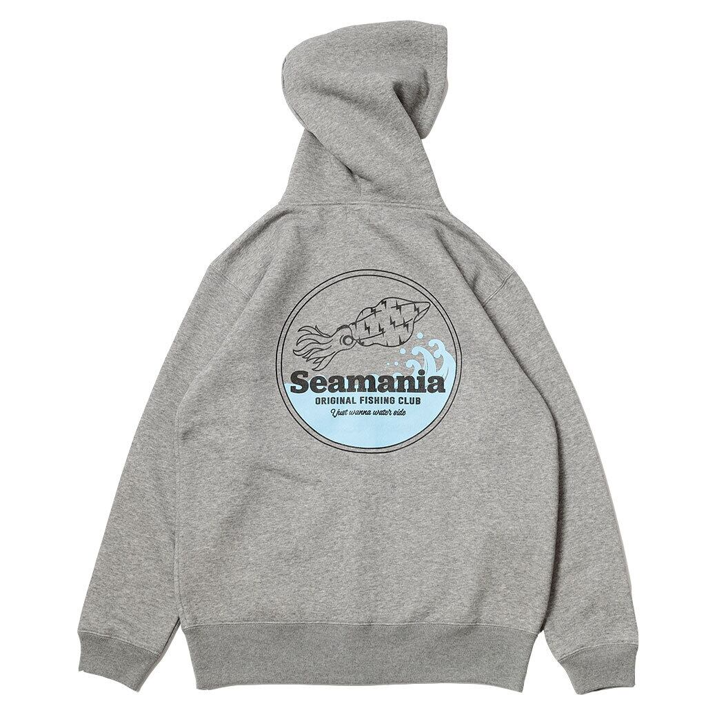 【Seamania】バックプリントIKA パーカー [グレー]