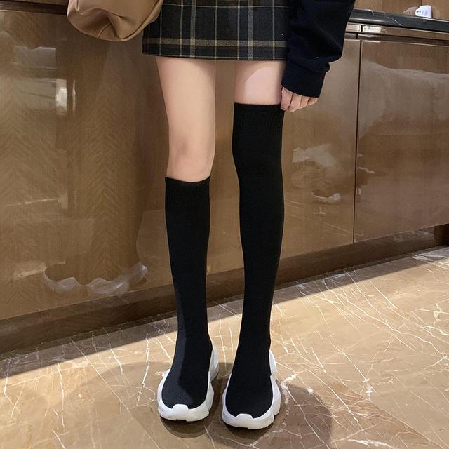 靴底スリッポンタイプあったかミドル丈ブーツ 【201013】