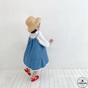 «sold out» denim skirt デニムジャンパースカート