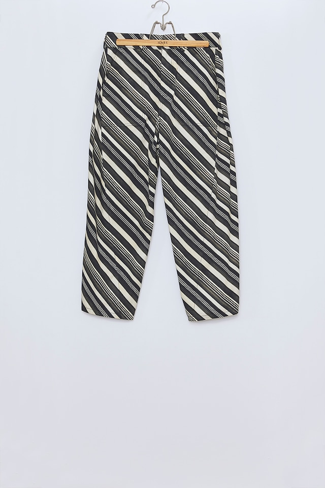 M A S U / VASE PATTERN WORK PANTS(FADED BLACK)