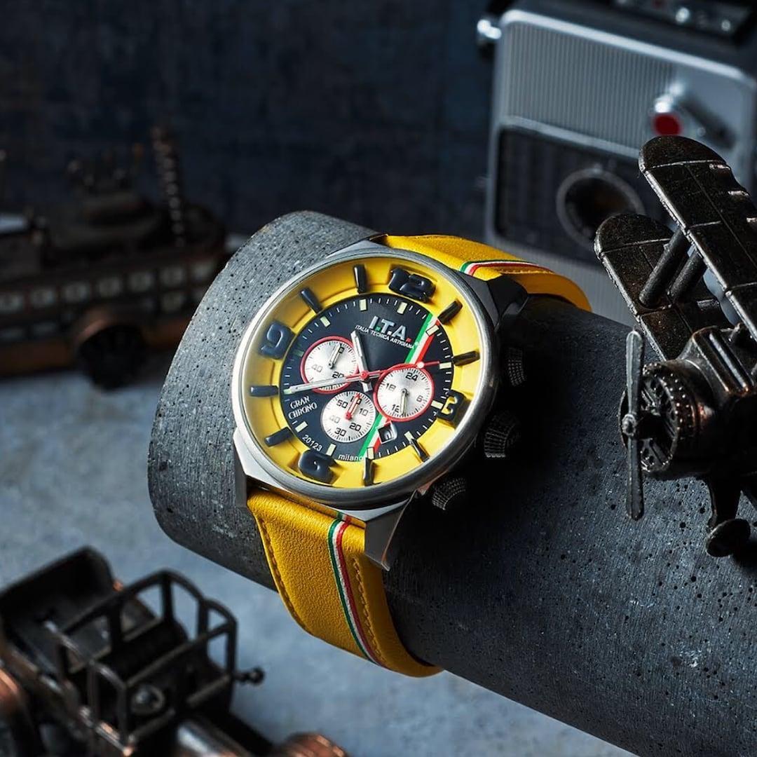 【I.T.A. アイティエー】GRAN CHRONO グランクロノ(ジャッロ)/国内正規品 腕時計