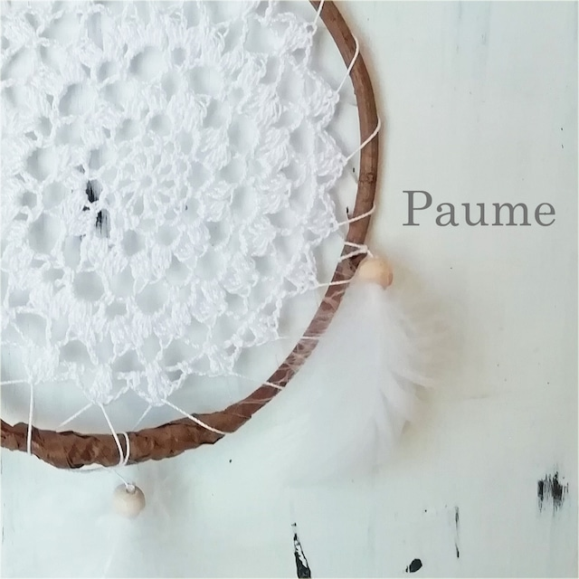 Paume: ドリームキャッチャー 羽が風に揺れて綺麗です