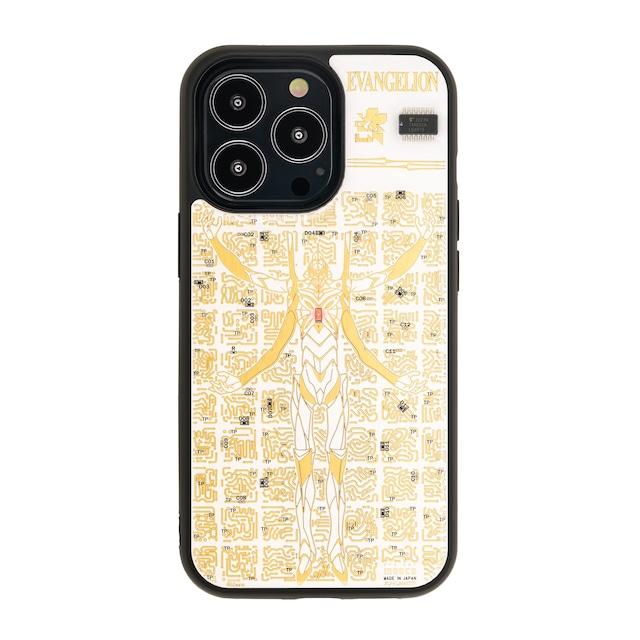 FLASH EVA13 基板アート iPhone 13 Proケース 白【東京回路線図A5クリアファイルをプレゼント】
