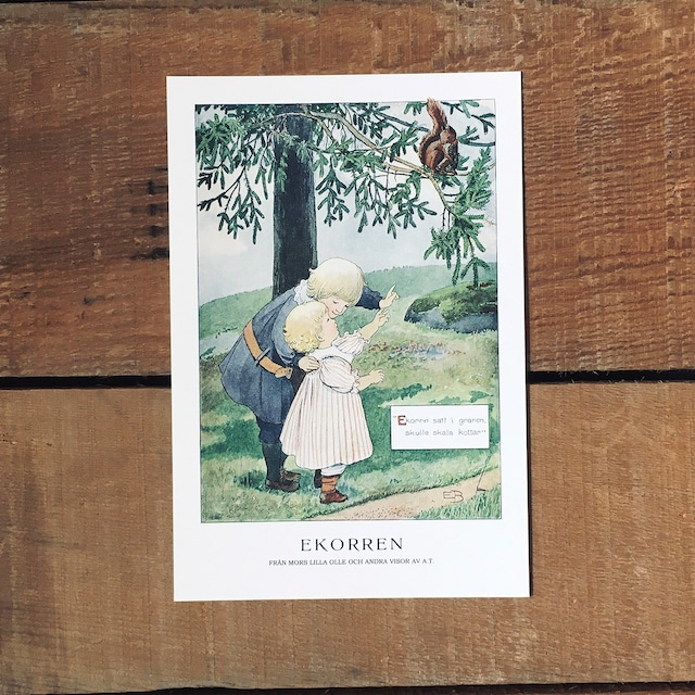 ポストカード「EKORREN(MORS LILLA OLLE - 04)」