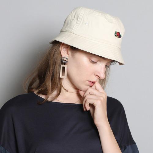 14573100【FRUIT OF THE LOOM/フルーツオブザルーム】LINEN LOGO EMB BUCKET HAT/刺繍バケットハット