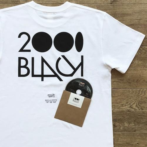 【ラスト1】2000Black × Ends and Means × Jazzy Sport Tシャツ/ホワイト(Mix CD付き)