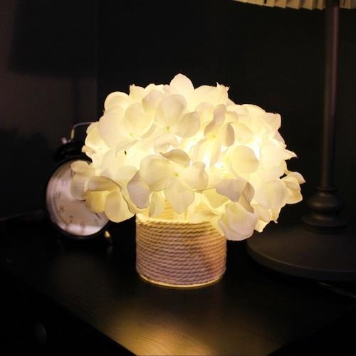 hydrangea cherry blossom LED light / アジサイ サクラ フラワー ルームライト テーブルランプ 花 桜 照明 韓国 雑貨