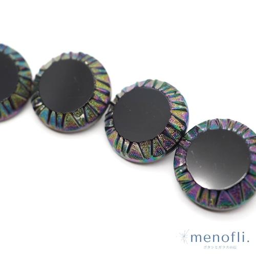 黒 オーロラ ヴィンテージボタン チェコガラスボタン BP0825 202109_19