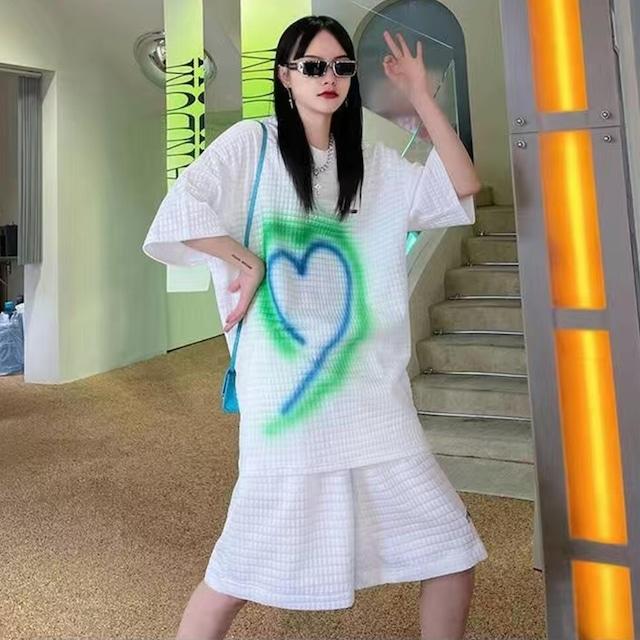 【セット】「単品注文」ファッションシンプルカジュアル半袖トップス+ショートパンツ50339100