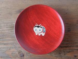 かわいいはりこ犬の縁起豆皿|会津漆器 食器|ほくるし堂