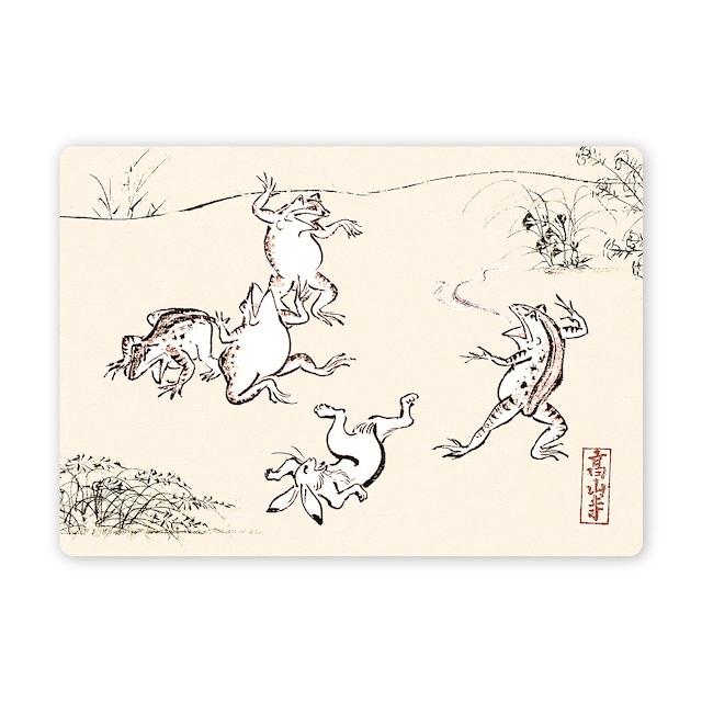 多目的カード 鳥獣戯画すもう