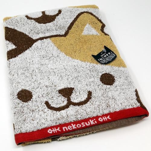 猫バスタオル(ねこがすきつみねこ)