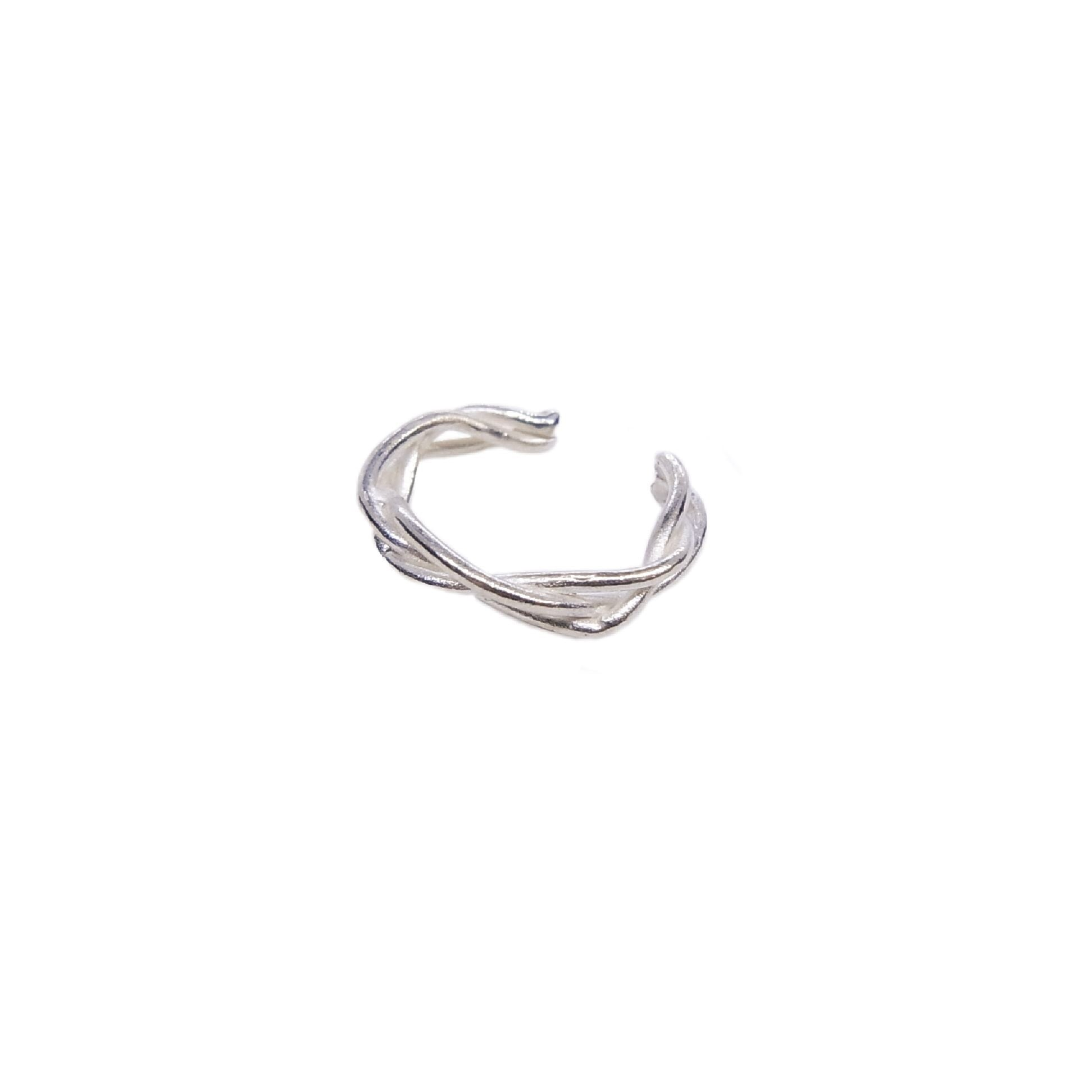 Ear cuff ' knitted thin ring'