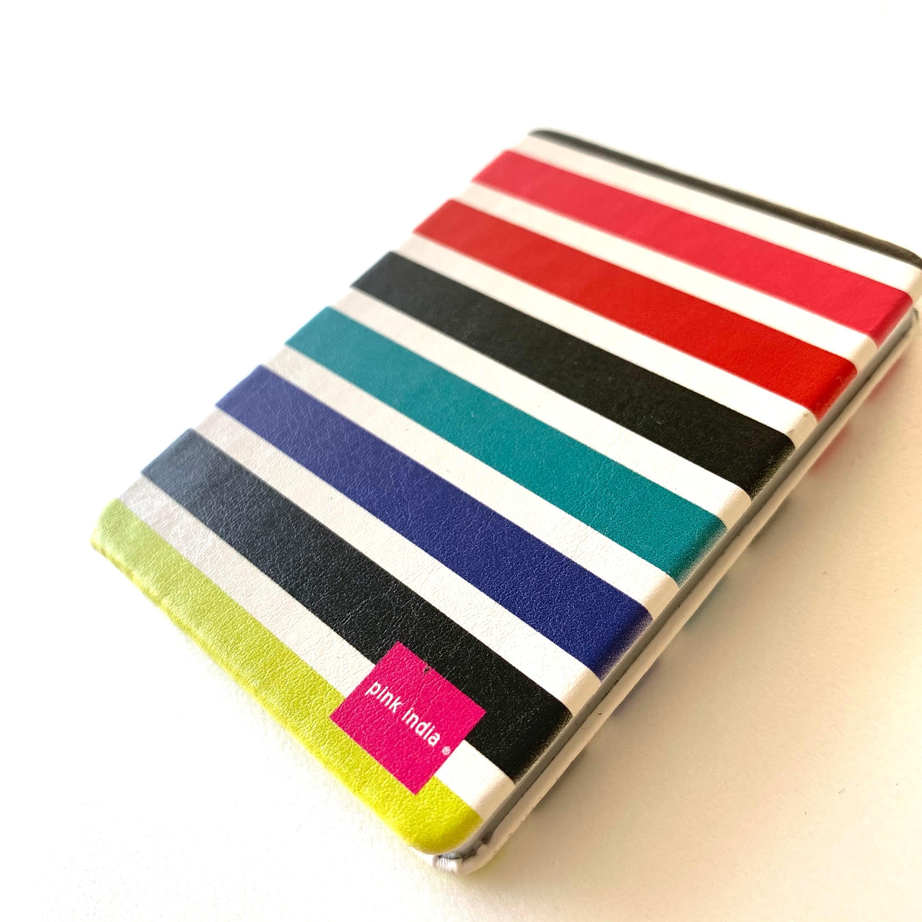 北欧デザイン コンパクト2面ミラー   multi stripe