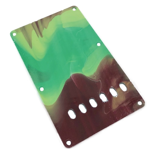 VARIOUS MARBLEIZED PICK GUARD SERIES - ST-type  Only One Design - ギター用マーブルバックプレート stba4-4