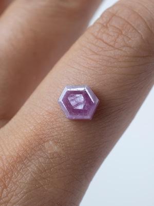 Hexagon Pink Sapphire -003