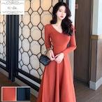 No.340 韓国ワンピース きれいめワンピース 大人可愛いワンピース フレアワンピース 2color