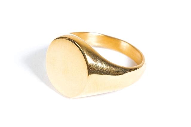10/23[土]発売【316L circle signet ring】 / GOLD