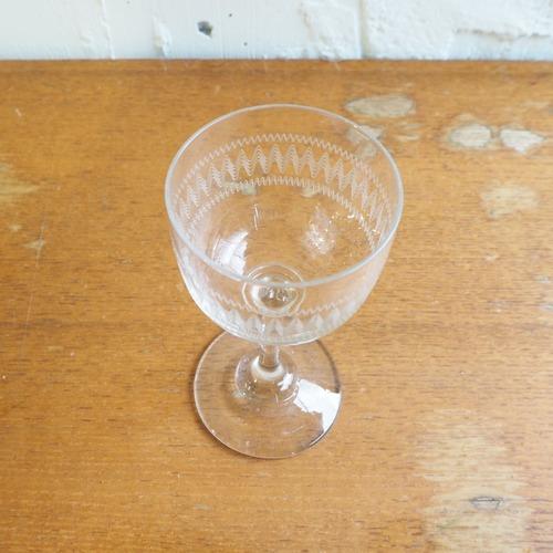 波模様のミニグラス