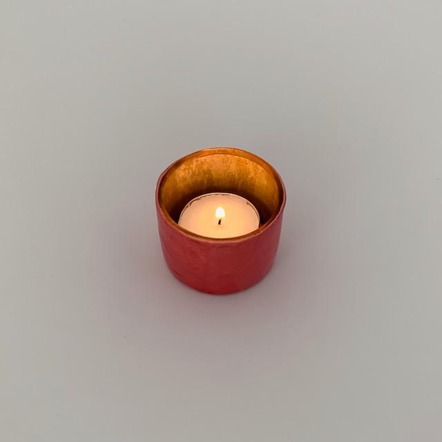 Votive Candleholder Sunset Red Mustard|ボーティブ キャンドルホルダー サンセットレッド マスタード