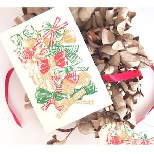 【残りわずか】クリスマスカード 聖なるリボン