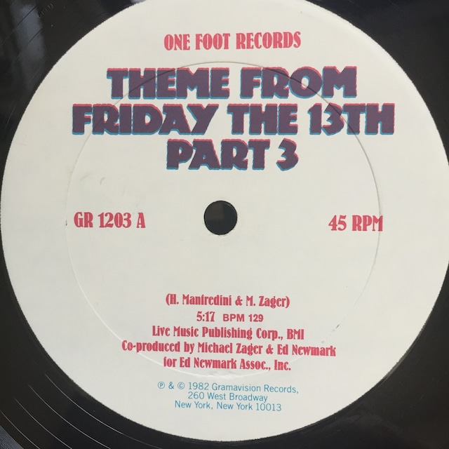 Hot Ice – Theme From Friday The 13th Part 3 / Rock Bottom