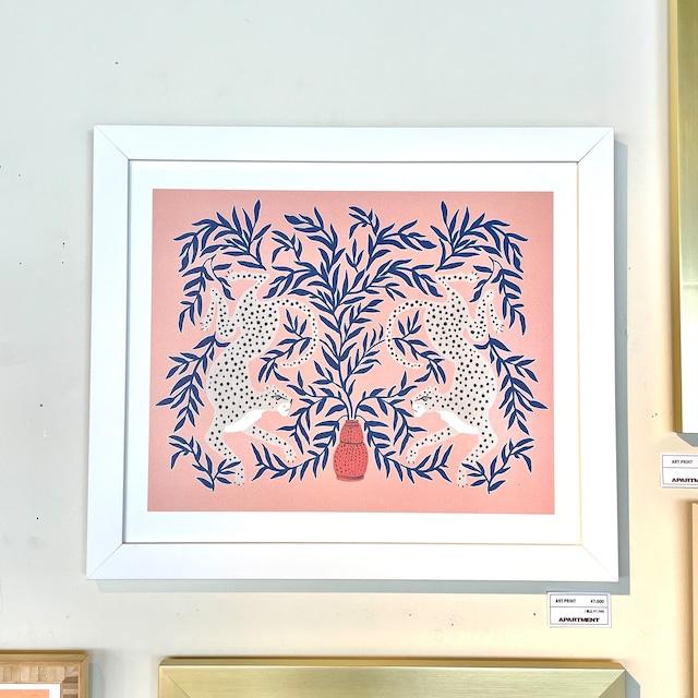 【即納】フレーム入りアートプリント Leopard Vase by Megan Galante