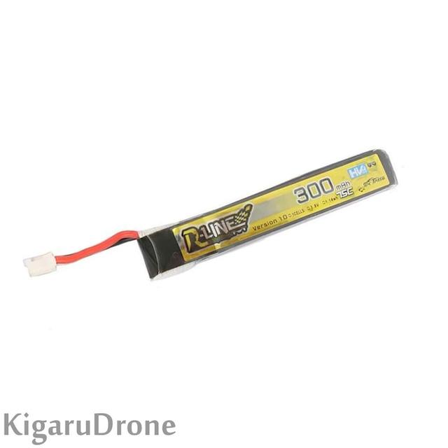 【1SHV 300mAh 1S 高出力レース用】TATTU R-Line 300mAh 3.8V 75C 1SHV Battery  with PH2.0コネクター