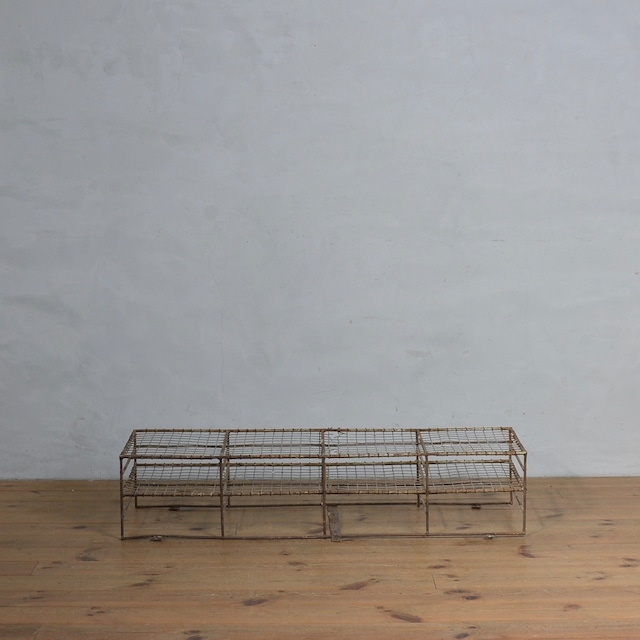 School Shose Rack / スクール シューズ ラック【B】 〈靴箱・下駄箱・店舗什器・アンティーク・ヴィンテージ〉10102