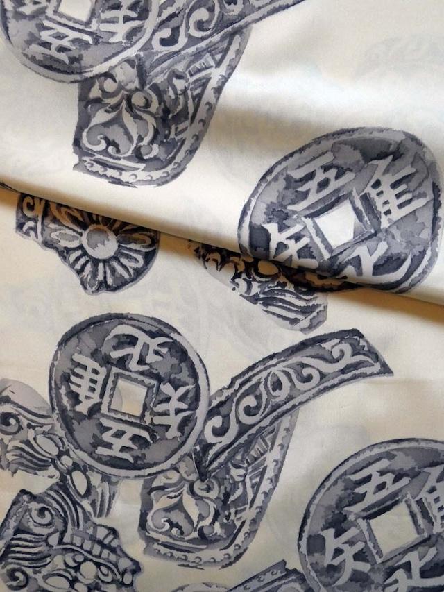 正絹襦袢 古銭