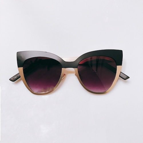 Eyewear♡キャットアイ04 ブラック&ゴールド