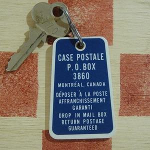 カナダ モントリオール P.O. BOX3860 ヴィンテージ 1770ルームキー付ホルダー