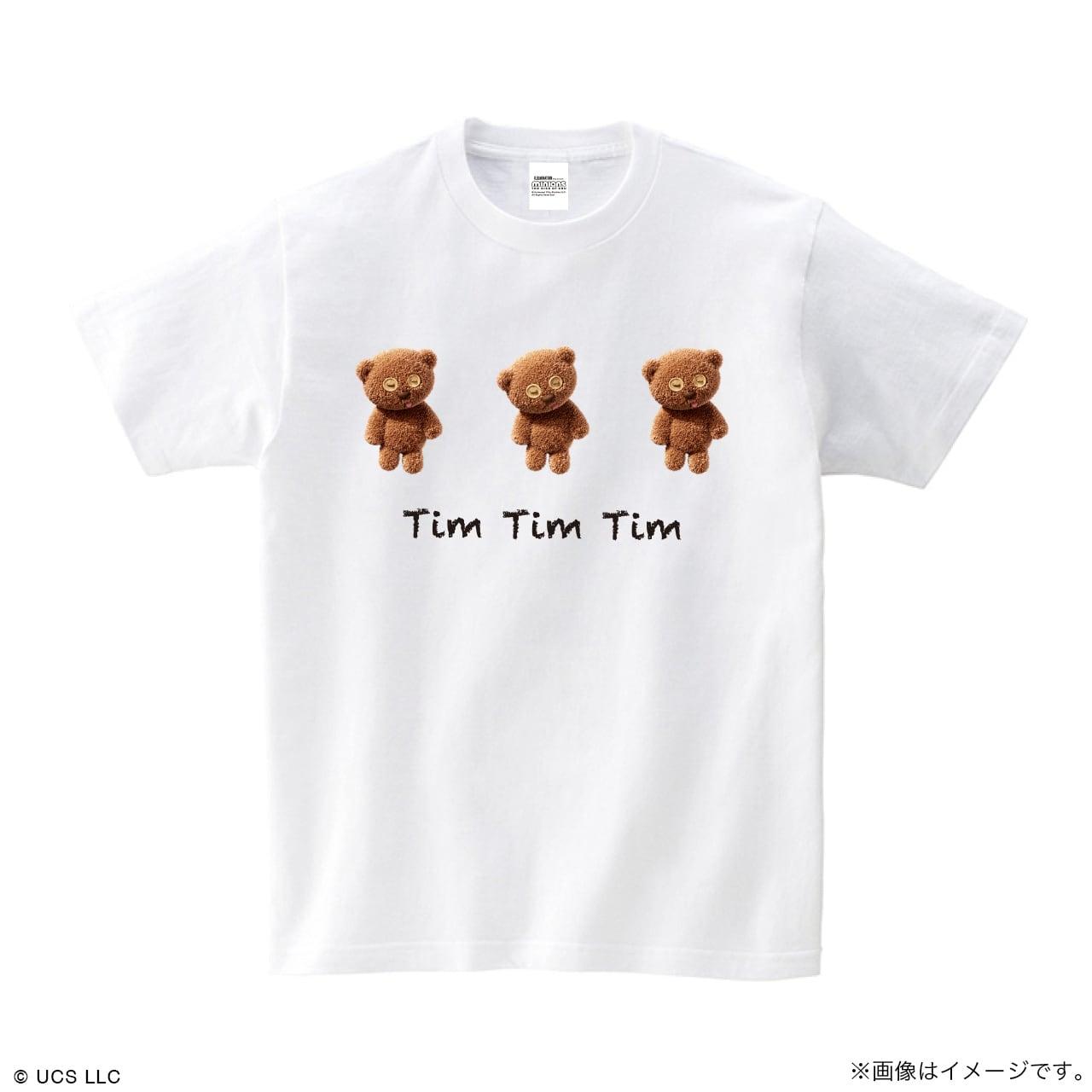 Tシャツ/ミニオン(Tim Tim Tim ホワイト)【MINIONS POP UP STORE 限定】