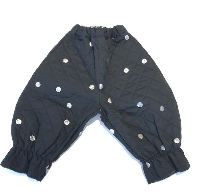 【21AW】フランキーグロウ ( frankygrow )ANKLE TIDE QUILTING PANTS[ S / M / L ]black-silverdots パンツ