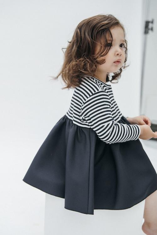 BORDER BALLERINA LONG T-DRESS【再入荷】