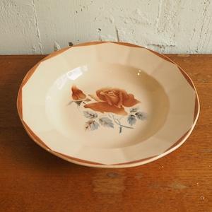Digoin ピンクローズのスープ皿