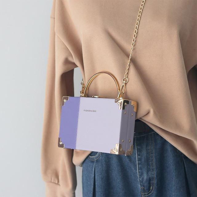 【バッグ】四色展開肩掛けファッション配色カジュアルショルダーバッグ53574886