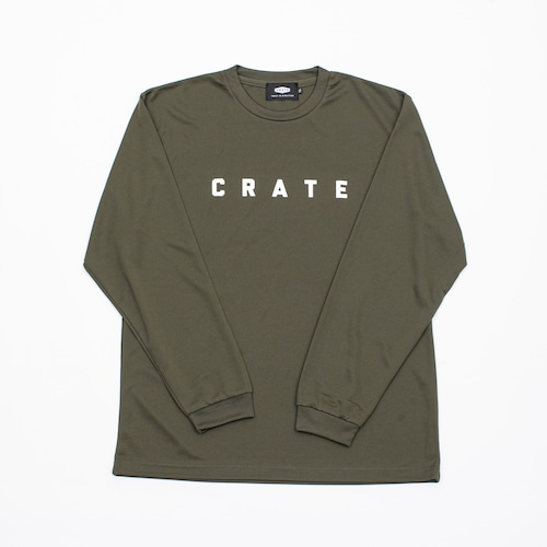 Crate Simple Logo L/S Mesh Tee  Olive