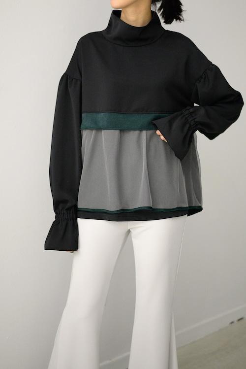 ROOM211 / Mesh layered PO (black)