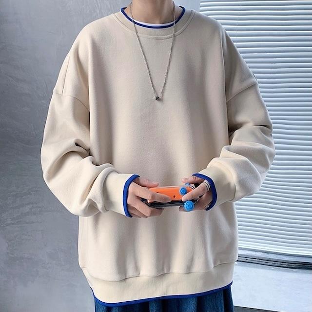 リングカラースウェットシャツ