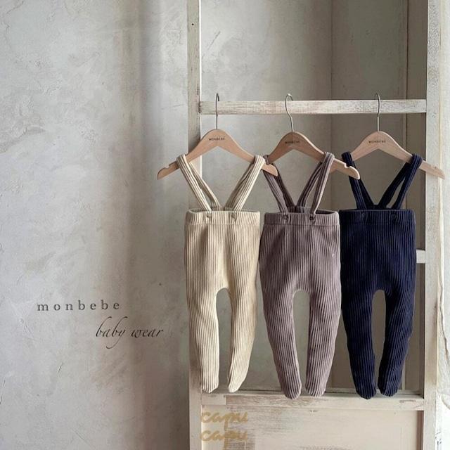 «先行予約割引»«baby» monbebe suspenders tights 3colors ベロアタイツ