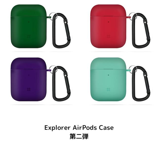 Apple AirPods 第一世代 第二世代 対応 半透明 ハード ケース エアーポッズ カバー カラビナ 国内正規品