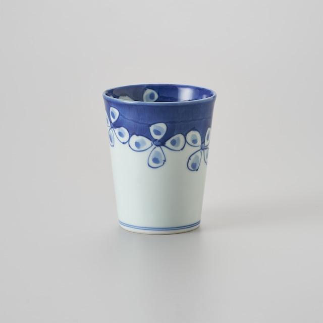 """【青花】""""Classic"""" ミルクカップ[大](花つなぎ)"""