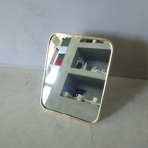 Brass Frame Mirror L