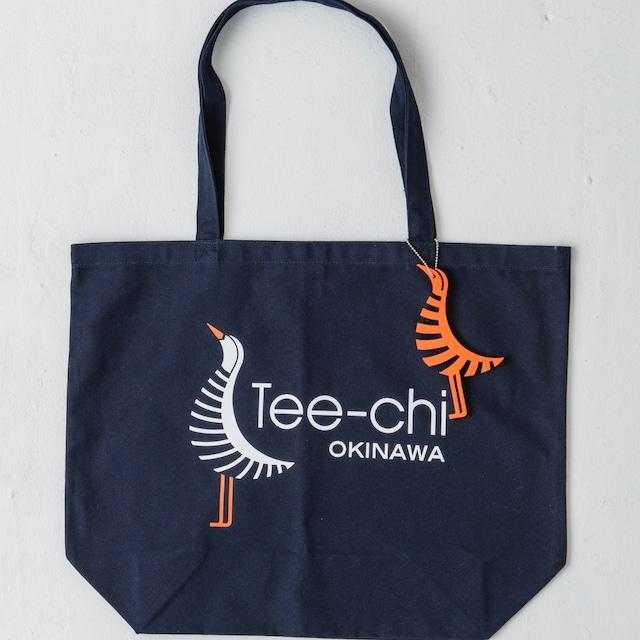 Tee-chi トートバッグ・Mサイズ<Tee-chiくんプリント><NAVY>