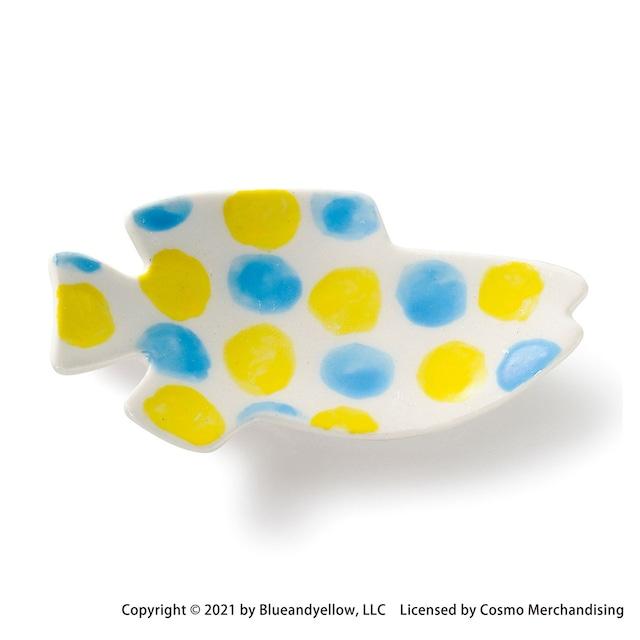 レオ・レオニ 豆皿 小皿 ミニ 皿 約8×4cm スイミー 青黄 瀬戸焼 278219