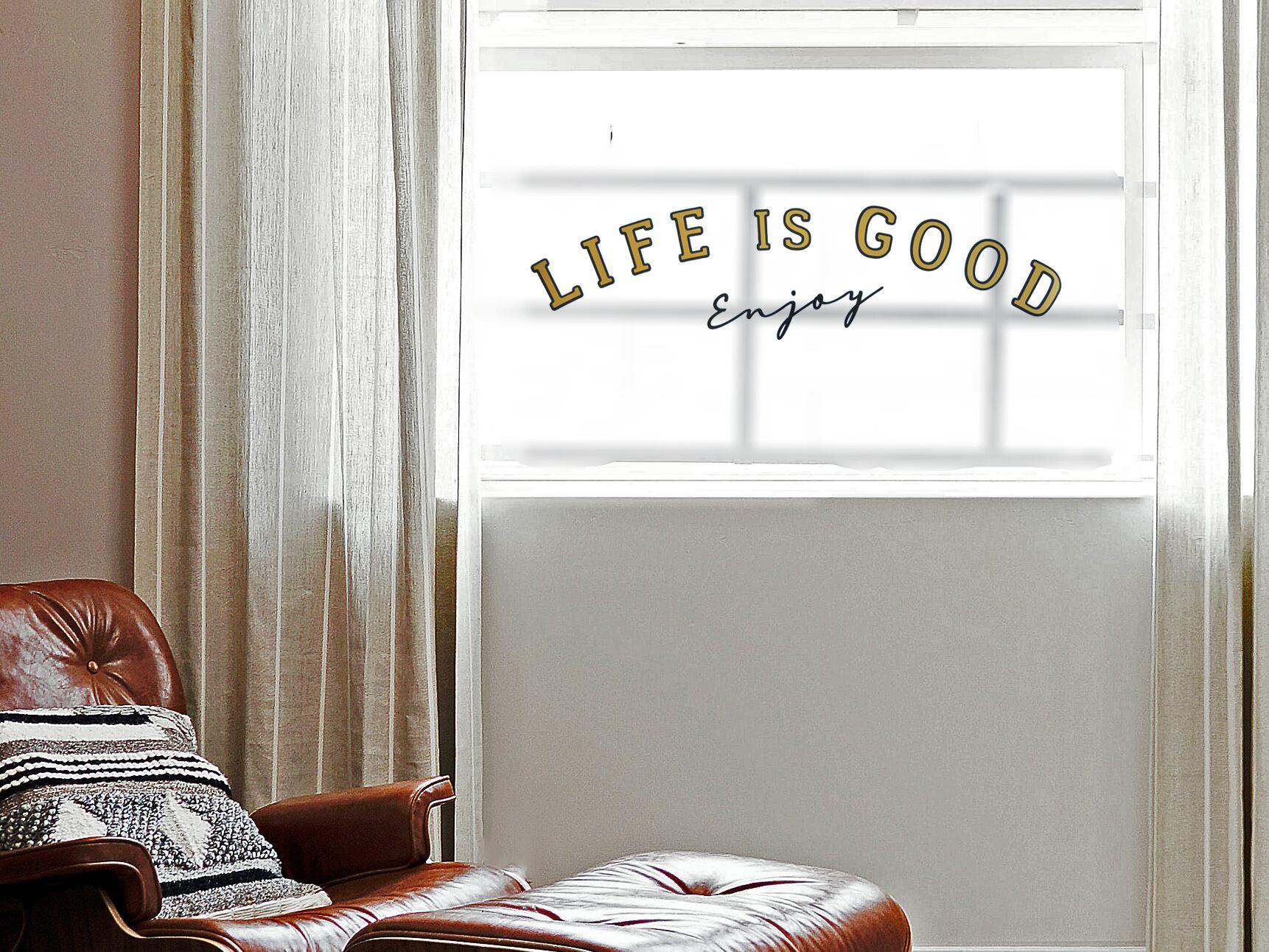 サインペイント風LIFE IS GOODウォールステッカー