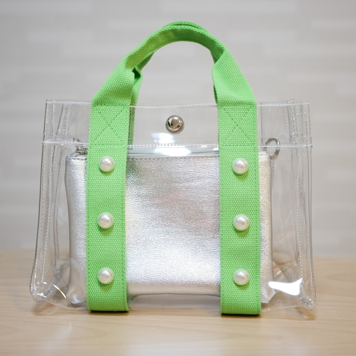 pvc Perl bag Green