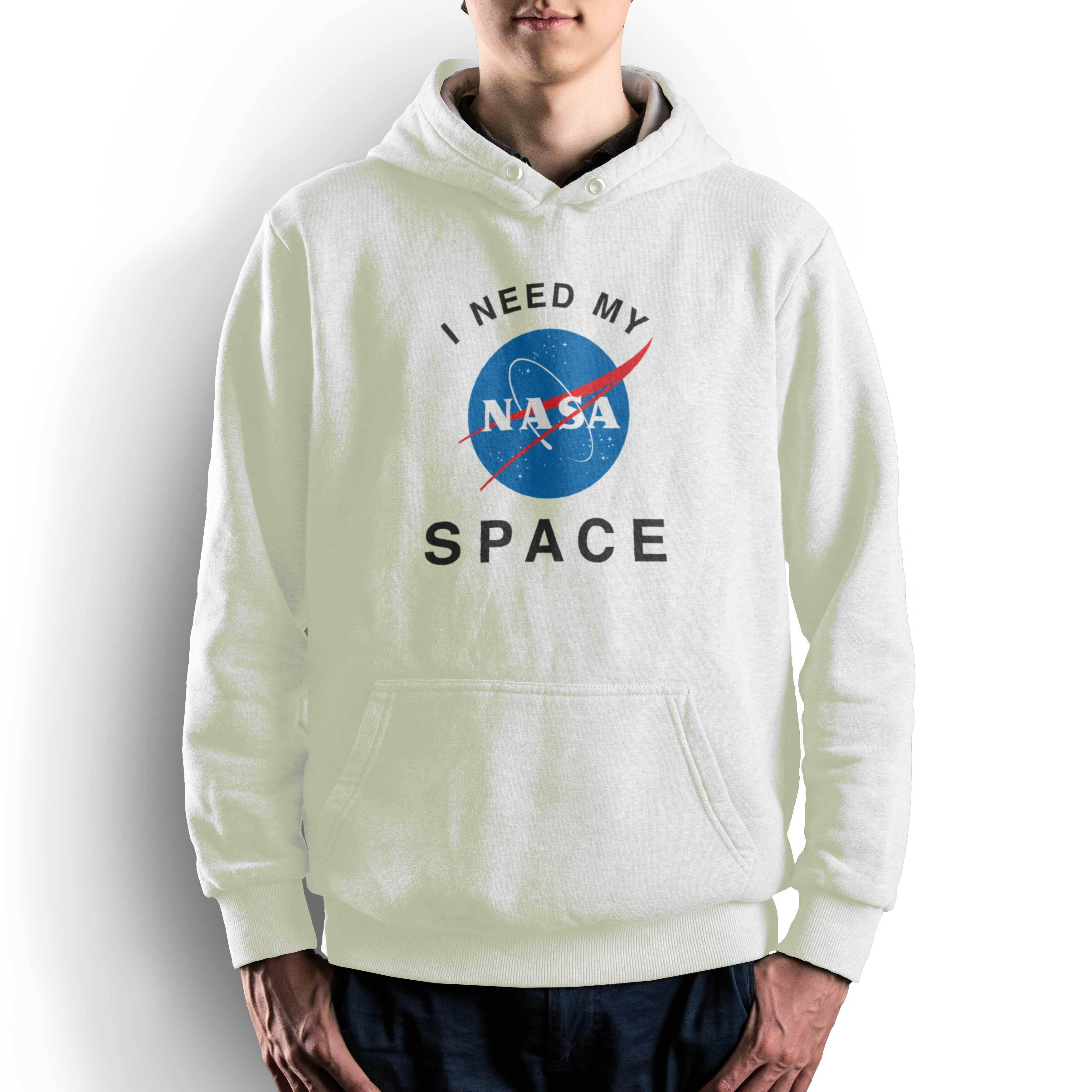 NASA公認(アメリカ航空宇宙局)・パーカー・JERZEES(ジャージーズ)ボディ・インサイニア(ミートボール)・ホワイト